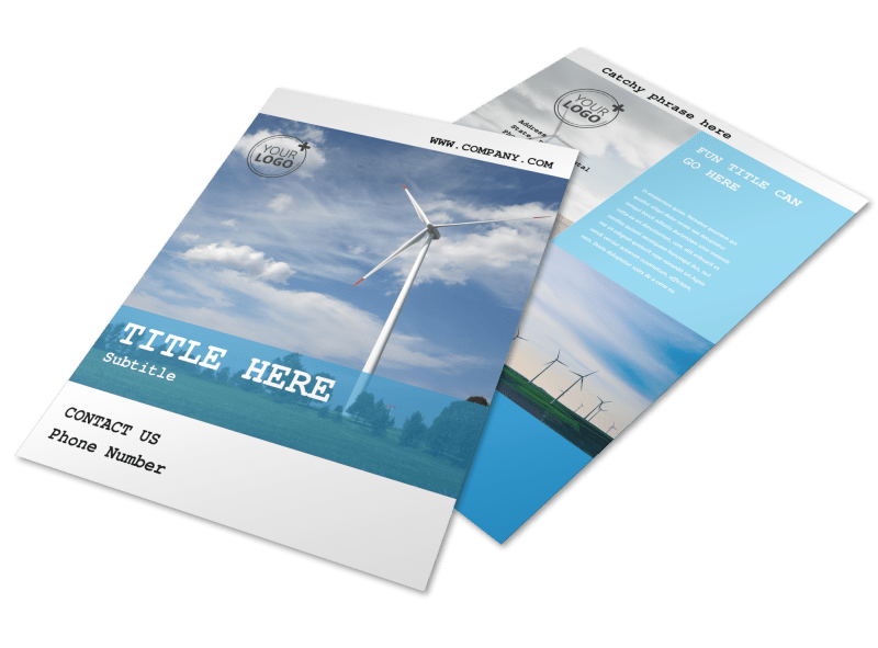 Wind Farm Flyer Template Preview 1