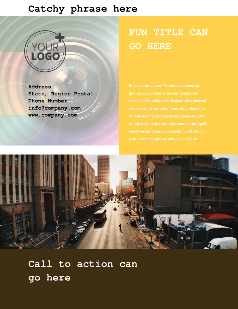 Urban Photography Flyer Template Preview 3