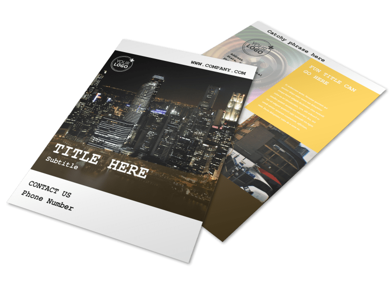 Urban Photography Flyer Template Preview 1