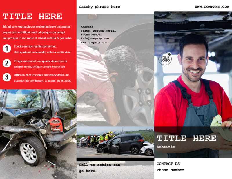 Roadside Assitance Brochure Template Preview 2