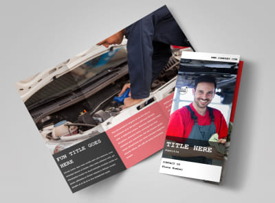 Roadside Assitance Tri-Fold Brochure Template preview