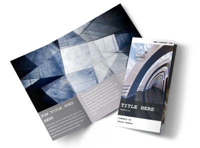 Modern Architect Tri-Fold Brochure Template preview