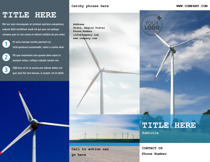 Wind Farm Brochure Template Preview 2