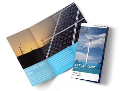 Wind Farm Tri-Fold Brochure Template preview