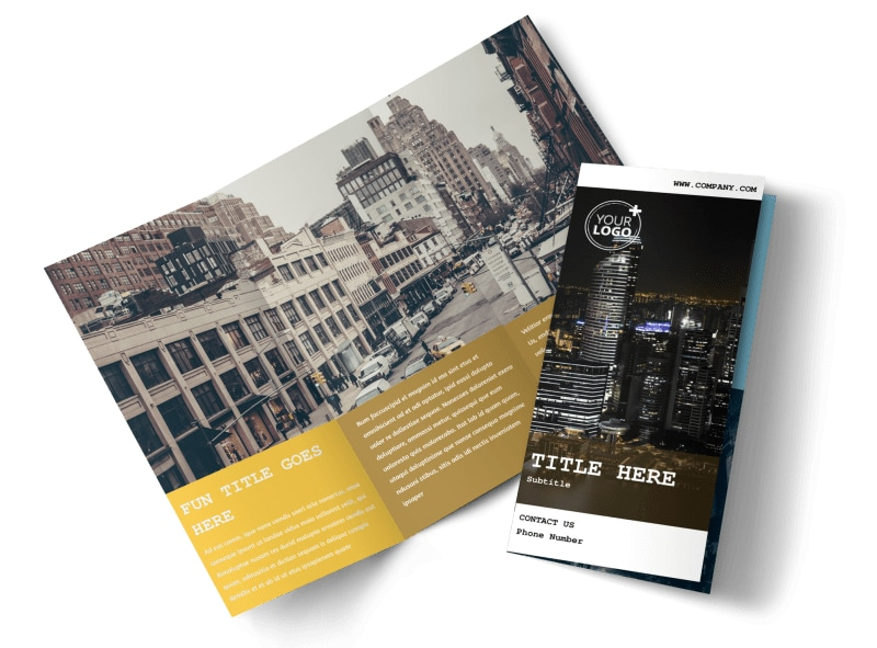 Urban Photography Brochure Template Preview 4