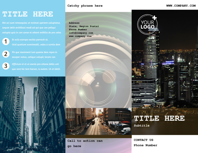 Urban Photography Brochure Template Preview 2