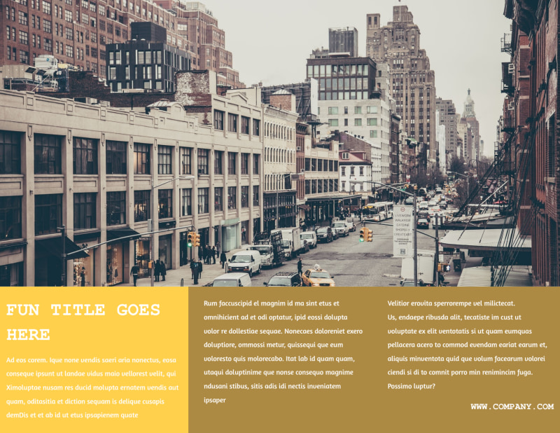 Urban Photography Brochure Template Preview 3