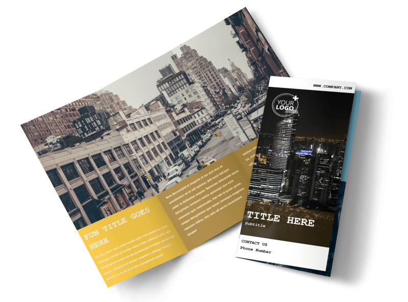 Urban Photography Brochure Template Preview 1