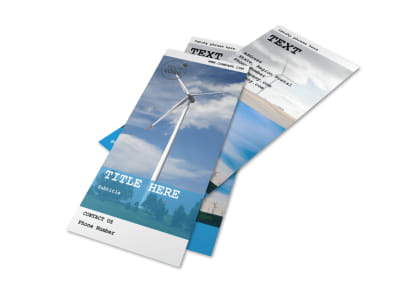 Wind Farm Flyer Template 2 preview
