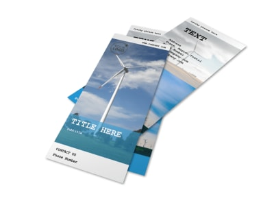 Wind Farm Flyer Template 2