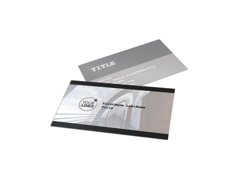 modern architect business card template - Architect Business Card