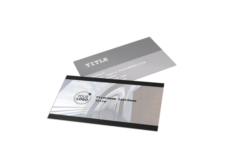 Modern Architect Business Card Template Preview 1