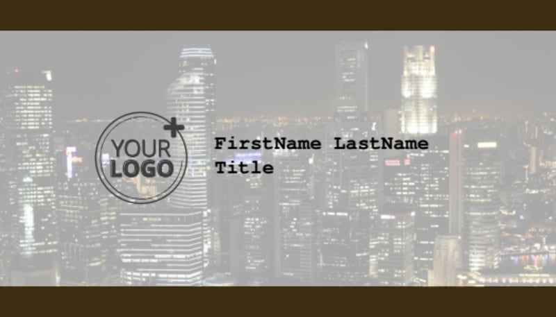 Urban Photography Business Card Template Preview 2