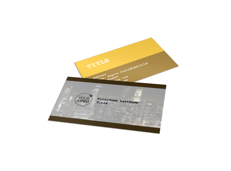 Urban Photography Business Card Template Preview 1