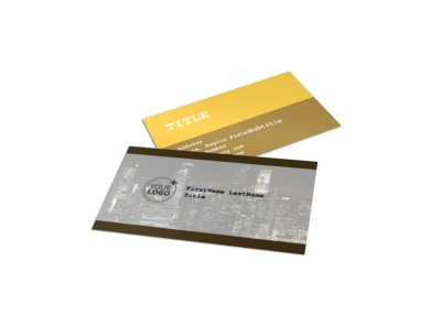 Urban Photography Business Card Template