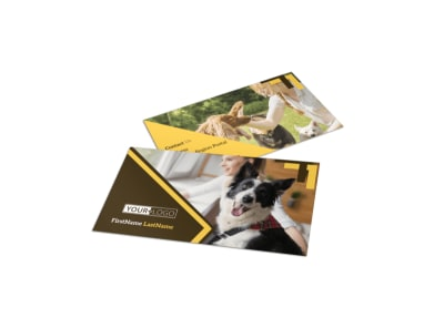 Dog Training Business Card Template preview