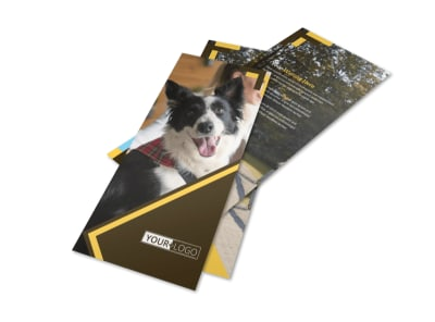 Dog Training Flyer Template 2