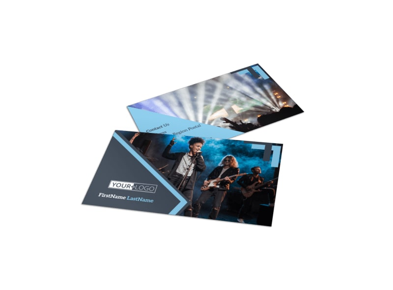 Pop Music Concert Business Card Template MyCreativeShop - Music business card template