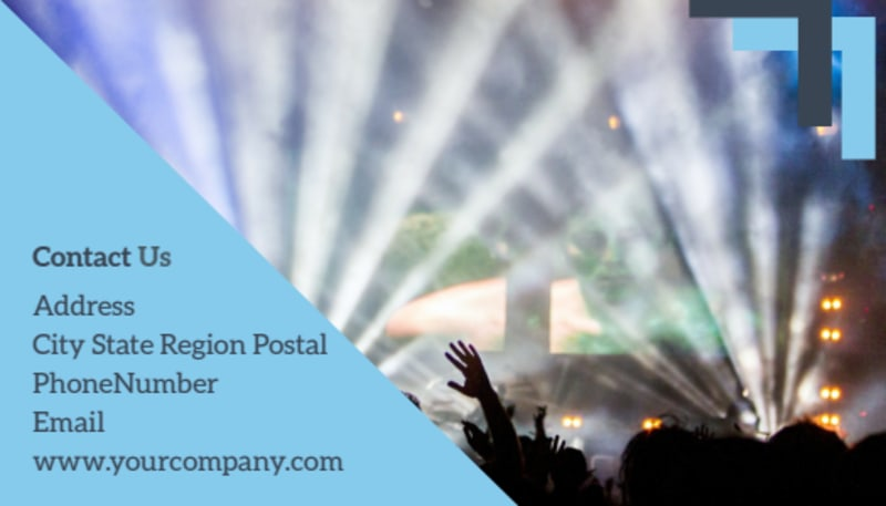 Pop Music Concert Business Card Template Preview 3