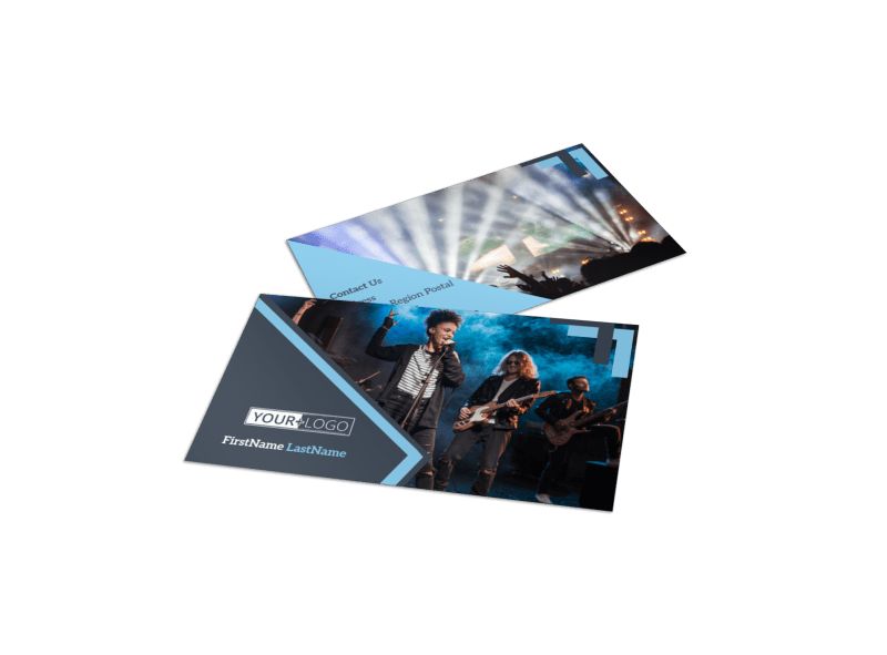 Pop Music Concert Business Card Template Preview 1