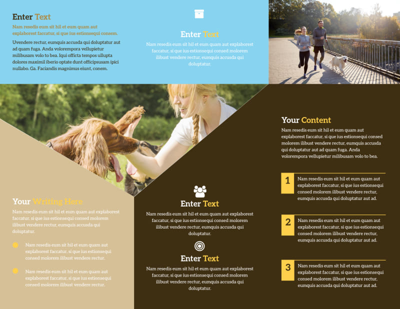 Dog Training Brochure Template Preview 3