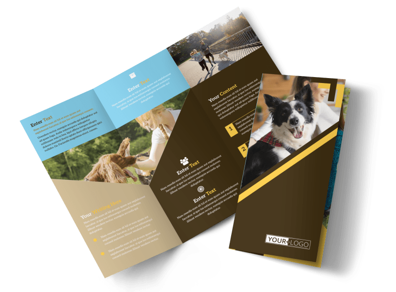 Dog Training Brochure Template Preview 1