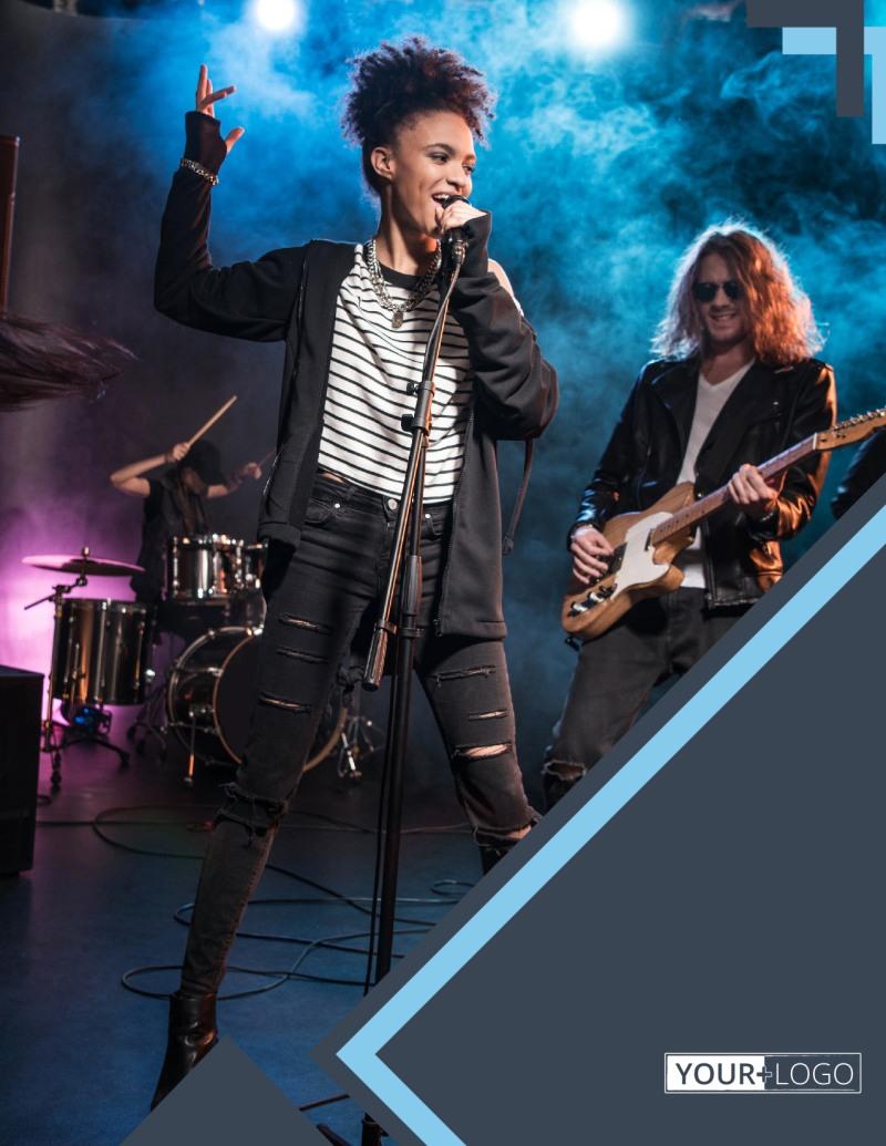Pop Music Concert Flyer Template Preview 2