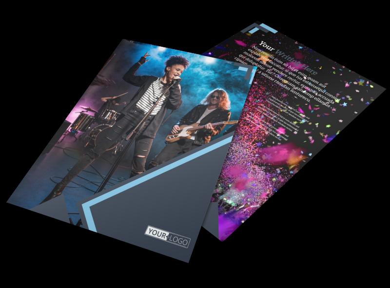 Pop Music Concert Flyer Template Preview 1
