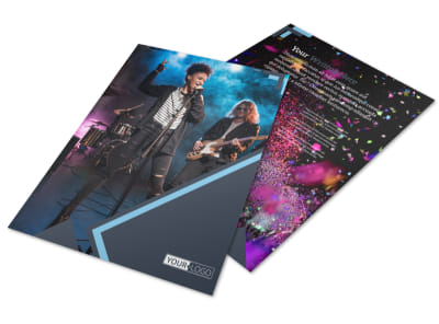 Pop Music Concert Flyer Template preview