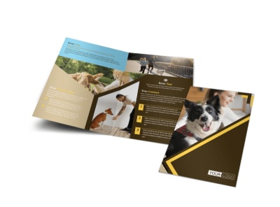Dog Training Bi-Fold Brochure Template