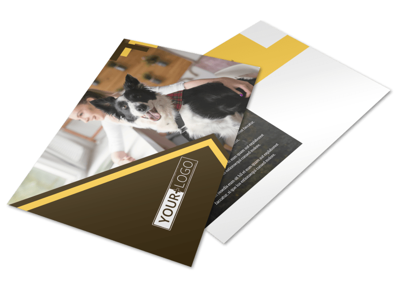 Dog Training Postcard Template Preview 1