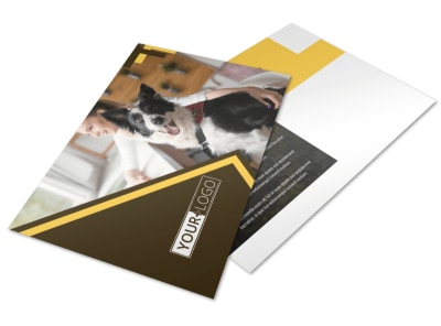 Dog Training Postcard Template