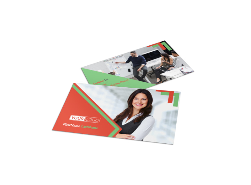 Marketing Conference Business Card Template