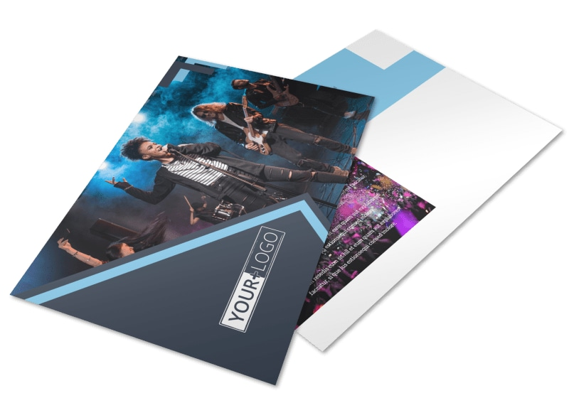 Pop Music Concert Postcard Template Preview 4