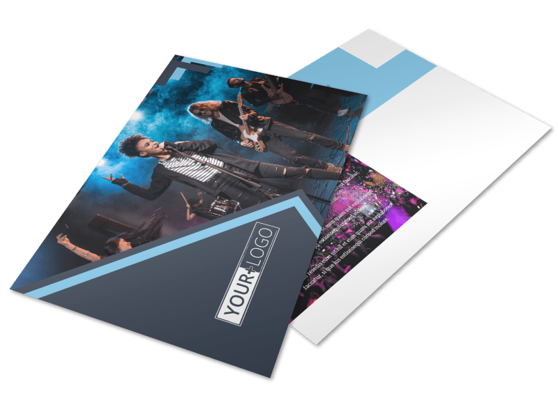 Pop Music Concert Postcard Template Preview 1