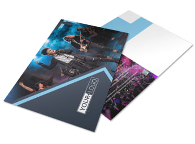 Pop Music Concert Postcard Template preview
