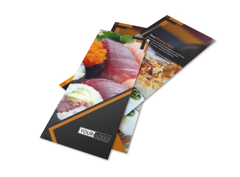 Outstanding Sushi Restaurant Flyer Template 2