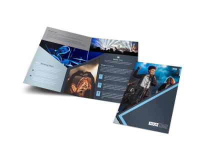 Pop Music Concert Bi-Fold Brochure Template preview