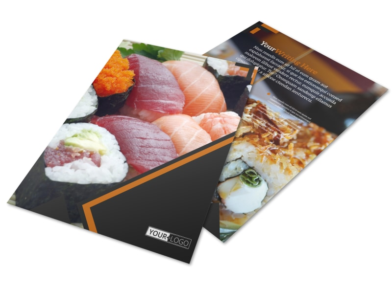 Outstanding Sushi Restaurant Flyer Template  Mycreativeshop