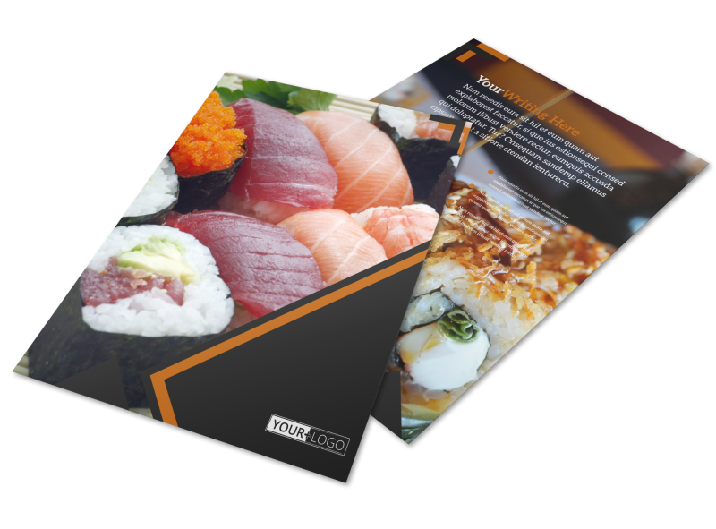 Outstanding Sushi Restaurant Flyer Template Preview 1