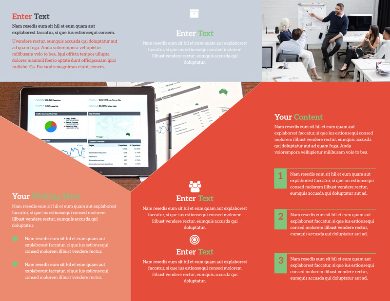 Marketing Conference Brochure Template Preview 3