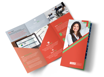 Marketing Conference Tri-Fold Brochure Template preview