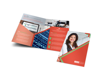 Marketing Conference Bi-Fold Brochure Template