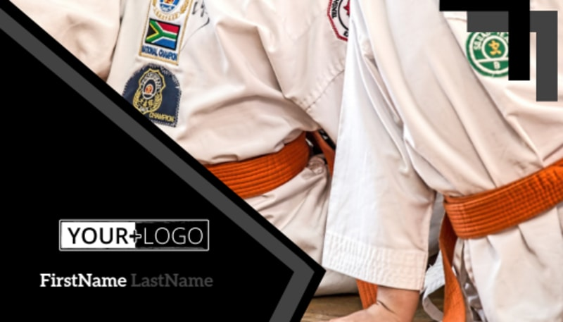 Martial Arts Studio Business Card Template Preview 2