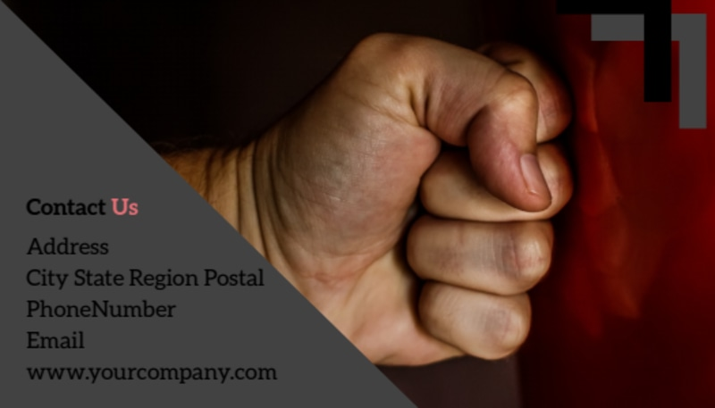 Martial Arts Studio Business Card Template Preview 3