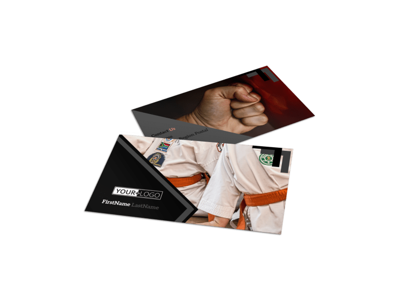 Martial Arts Studio Business Card Template Preview 1