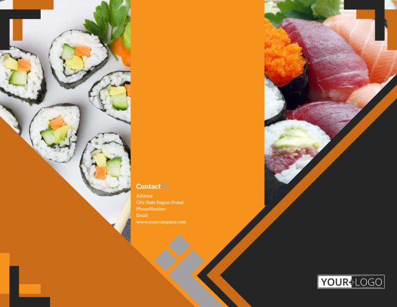 Outstanding Sushi Restaurant Brochure Template Preview 2