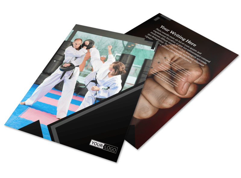 Martial Arts Studio Flyer Template Preview 1