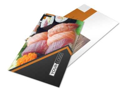 Outstanding Sushi Restaurant Postcard Template preview
