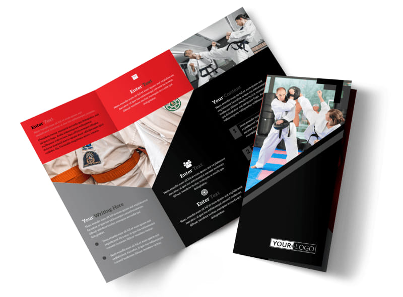 Martial Arts Studio Brochure Template  Mycreativeshop